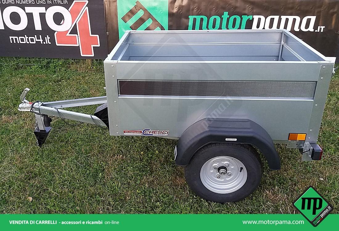 H3 senza freni Cresci rimorchi - carrello omologato per trasporto cose